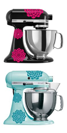 I want the pink and black - maybe I can just buy some cool pink stickers to trick out my Black Kitchen Aid??
