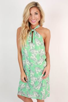 Sweet Like Honey Shift Dress in Aqua Sky