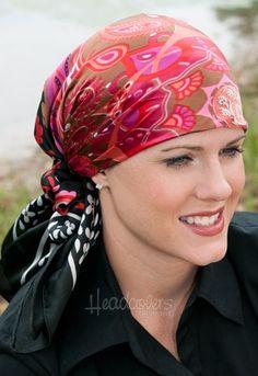 satin headscarf with scrunchy