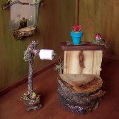 Fairy Furniture Dollhouse Toilet - Etsy