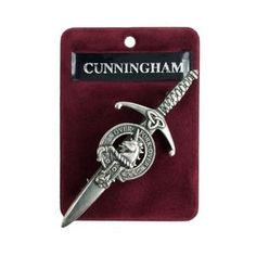Cunningham Clan Crest Kilt Pin Gaelic Themes Kilt Pin Over   Etsy Scotland Map, Scottish People, Kilt Pin, Scottish Clans, Family Roots, Plaid Pattern, Pewter, Lead Free, Antiques