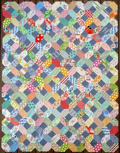 Kansas Dugout quilt top by Red Pepper Quilts on Flickr>Great scrappy quilt!