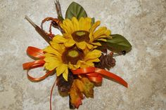 Fall Corsages Sunflower Corsage Corsages by thebloomingcornercom, $15.00