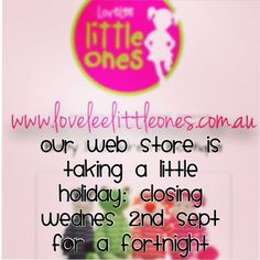 Morning Lovelee's xx our website is taking a little holiday!! It will re-open in a couple of weeks with some exciting new products and spring/summer clothing & shoes!! #shop3280 #warrnambool by loveleelittleones