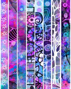 Faux Washi Strips immediate printable download designs sticky strips tape like sticker adhesives handmade deisgns