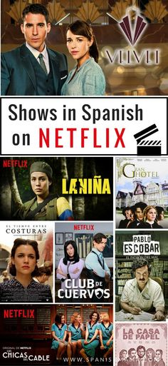 The Best Spanish Shows on Netflix, Find great series in Spanish to watch, with this huge list! Netflix is packed with riveting Spanish shows, and constantly adding more. Read this list and fill your queue with the best Spanish series on Netflix now. Spanish Phrases, Ap Spanish, Spanish Words, Spanish Lessons, French Lessons, Spanish Help, Spanish Tv Shows, Spanish Courses, Spanish Grammar