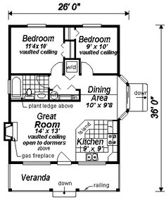 Cape Cod House Plan 58508 Level One