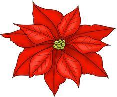 Poinsettia Freebie Printable...would make cute Christmas cards