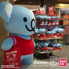 Giant koala plush for selfie! More info here: http://www.smilingbear.com/blog/giant-koala-plush-at-australian-airports  #DiscoverAustralia #GiantPlush #Bandai #Plush #Plushie #smilingbear #smilemore #koala #koalabear #bear #smile #smiling #happy #cute #kawaii #australia #aussie #sydney #beach #manga #art #design #illustration #cartoon #characterdesign #fun #GIF #otaku