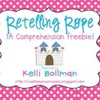A Retelling Rope is a super cute, fun, and effective way to teach and practice retelling story elements {setting, character, events, conclusion} wi...