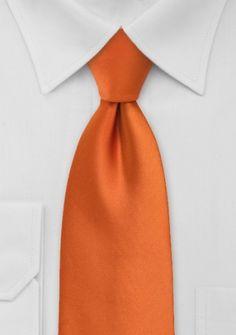 Moulins Clip-Krawatte in orange