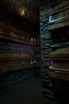 seriously fantastic. Coffin room, rock walls, great lighting!  #halloween