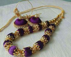 purple silk thread set