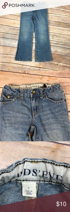 💙Size 5 Lands' End jeans Adjustable waist. Lands' End Bottoms Jeans