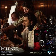 #PoldarkPBS MASTERPIECE on @pbsofficial. A toast! #BTS #onset