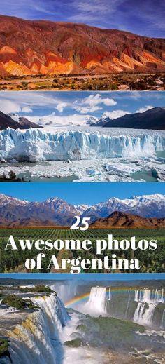 25 amazing photos of Argentina; Perito Moreno glacier, Iguazu Falls, Mendoza, Buenos Aires, El Chalten, Salta and more. Get inspired! #argentina #travel #photos