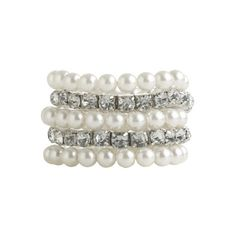 Rhinestone Pearl Bracelet - Teen Clothing by Wet Seal ($10) ❤ liked on Polyvore featuring jewelry, bracelets, accessories, pulseiras, pulseras, rhinestone bracelet, rhinestone jewelry, wet seal, pearl bracelet and bracelet bangle