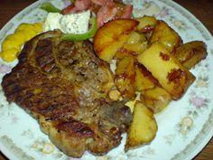 Μπριζόλες με πατάτες φανταστικές !! ~ ΜΑΓΕΙΡΙΚΗ ΚΑΙ ΣΥΝΤΑΓΕΣ Greek Recipes, Cooking Time, Steak, French Toast, Pork, Beef, Meals, Breakfast, Foodies