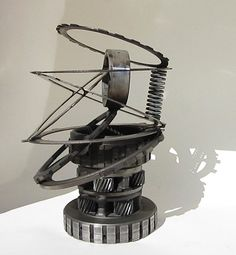 Abstract Metal Sculpture Re Purposed Automotive by EFaceDesigns
