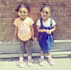 Fashion blogger Ashanti's cute fashionistas in #ShoeZone glittery pumps Style Code: 20617 #style #kids #blogger #fblogger #fashion #fashionblogger