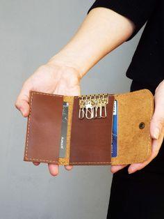 http://handmadeineurope.com/5plus/shop/leather-key-case-brown-leather-key-case-leather-key-chain-key-holder/