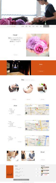 エステ・マッサージ・レシポンシブWEBデザイン・WEBデザイン・ホームページ・デザイン・ホワイト・オレンジ・グレー