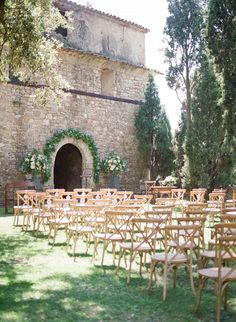 Ryan and Cali's Classic Destination Wedding in Provence, France. Outdoor ceremony ideas.