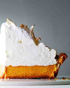 Deep-Dish Pumpkin-Meringue Pie Martha Bakes