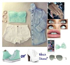"""""""Untitled #338"""" by nicholeblandon ❤ liked on Polyvore featuring Converse, Breckelle's, Ray-Ban and Wet Seal"""