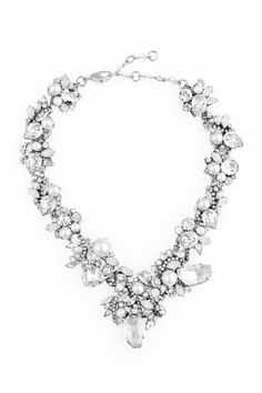 Silver plated necklace with Swarovski crystal and pearls