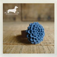 Blueberry Drop Adjustable Ring  VintageStyle by PickleDogDesign, $8.00