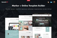 Marker + Online Template Builder by DynamicXX on @creativemarket