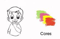 Arquivo apos.cores.doc enviado por Adriano na Unifebe. Sobre: é uma atividade e com a imagem das cores em libras Sign Language Book, Dbz, Smurfs, Snoopy, Education, Books, Fictional Characters, Alice, English