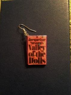 Valley of the Dolls Mini Book Earrings by GidgetsTreasures on Etsy #valleyofthedolls #jacquelinesusann #minibookjewelry #bookjewelry #bookearrings #pattyduke neelyohara #sharontate #dolls