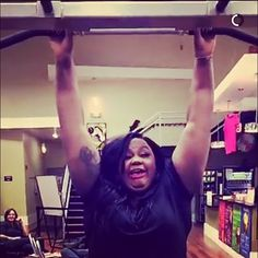 By nicolebyer: Welp @matteolane loves snapchat and he caught me trying to do A SINGULAR pull up at a gym in Yonkers and a woman is laughing at my attempt  #womenincomedy #nicolebyer