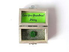 Wood Box Love You Grandma Custom Gift Handpainted by LovingCorner, $22.50
