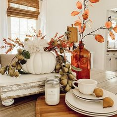 Who says you can't...... make a fun fall arrangement with pieces around your home after an inspiring friend says to try, right? .