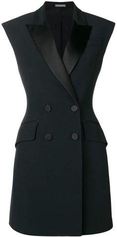 668018b7b6901 Alexander McQueen tuxedo dress - black Tuxedo Dress, Business Wear, Dress  Sewing Patterns,