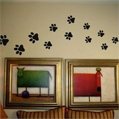 Paw Print Wall Decals Stickers - Vinyl Wall Art