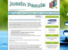 Jussin Pesula on liikkuva pesulapalvelu, jonka voi kutsua niin kotiin kuin toimistoon. Pesulan toiminnan lailla myös Kotisivukoneen alustalla toimiminen on Juha Vuorisen mielestä joustavaa.
