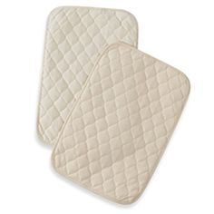 American Baby Company Organic Waterproof Quilted Lap and Burp Pad Cover, Natural, 2 Pack