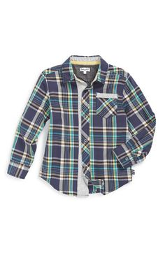 Free shipping and returns on Splendid Plaid Woven Shirt (Toddler Boys & Little Boys) at Nordstrom.com. Button-tab sleeves and a chest patch pocket add to the easygoing vibe of a classic woven shirt.