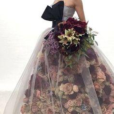 Trendy Ideas For Design Dresses Couture Tulle Flower Dresses, Pretty Dresses, Prom Dresses, Wedding Dresses, Floral Fashion, Fashion Dresses, Floral Gown, Fantasy Dress, Looks Vintage