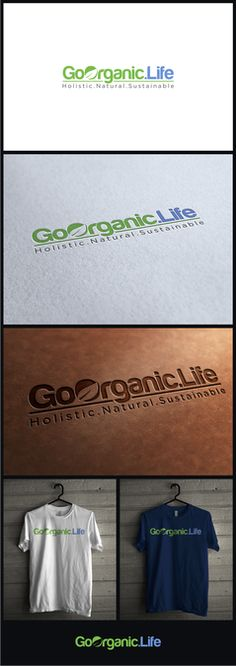 Create a dynamic  and conceptual logo for Goorganic life by takashimura