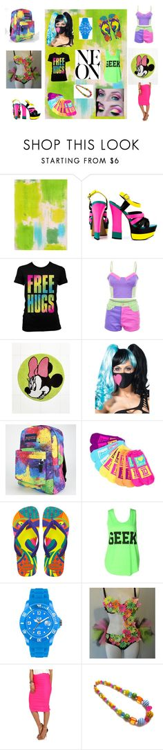 """My Colorful World In My Style"" by jj-caraway ❤ liked on Polyvore featuring Dolce Vita, MINKPINK, Disney, Leg Avenue, JanSport, claire's, Havaianas, CO and Ice-Watch"