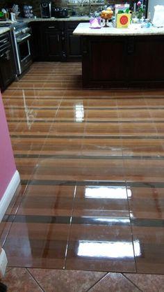 Kitchen floor tile -finish