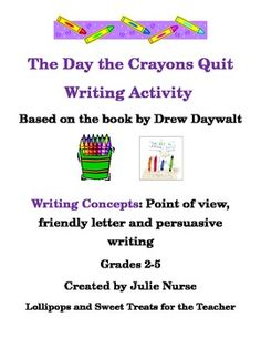 The Day The Crayons Quit Educational Book Activity For Kids