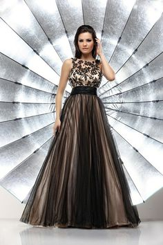 Lovely chocolate brown colour prom dress by Goya of London.  Prom ...