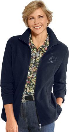 Fleece-Jacke in flauschiger Kuschel-Qualität ab 29,99€. Fleece-Jacke mit schmückende Stickerei, Polyester, Formende Wiener Nähte, Antipilling Ausrüstung bei OTTO