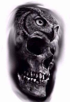 Tattos with Meaning – Meaningful tattoos Owl Skull Tattoos, Body Art Tattoos, Sleeve Tattoos, Inner Arm Tattoos, Cross Tattoos, Finger Tattoos, Small Tattoos, Skull Tattoo Design, Skull Design